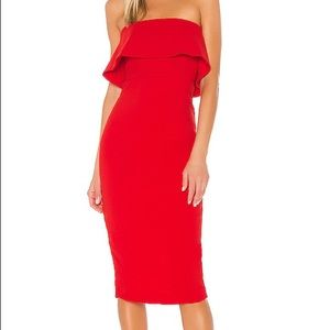 Astro Midi Dress in Red